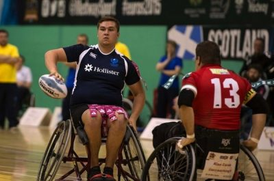Wheelchair rugby league player